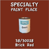 38/30028 Brick Red - Tiger - Quart Can