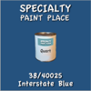 38/40025 Interstate Blue - Tiger - Quart Can