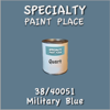 38/40051 Military Blue - Tiger - Quart Can