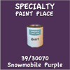 39/30070 Snowmobile Purple Quart Can