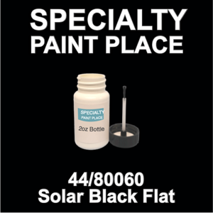 44/80060 Solar Black Flat - tiger - 2oz Bottle with Brush