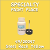 49/20047 Steel Rack Yellow 2oz Bottle with Brush