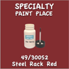 49/30052 Steel Rack Red 2oz Bottle with Brush
