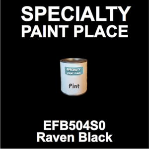 EFB504S0 Raven Black - Axalta - Pint Can