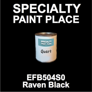 EFB504S0 Raven Black - Axalta - Quart Can