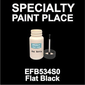 EFB534S0 Flat Black - Axalta - 2oz Bottle with Brush