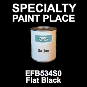 EFB534S0 Flat Black - Axalta - Gallon Can