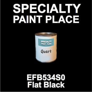 EFB534S0 Flat Black - Axalta - Quart Can
