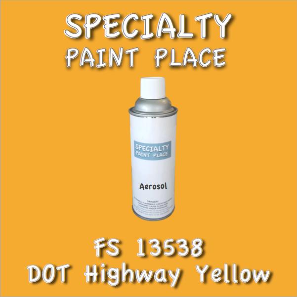 Federal Standard 13538 DOT Highway Yellow 16oz Aerosol Can