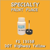 Federal Standard 13538 DOT Highway Yellow 2oz Bottle with Brush