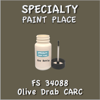 Federal Standard 34088 Olive Drab Carc 2oz Bottle with Brush