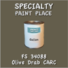 Federal Standard 34088 Olive Drab Carc Gallon Can