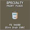 Federal Standard 34088 Olive Drab Carc Pint Can
