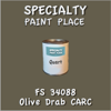 Federal Standard 34088 Olive Drab Carc Quart Can