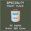 Federal Standard 34094 Green 383 Camo Gallon Can