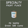 Federal Standard 34094 Green 383 Camo Pint Can