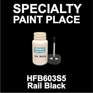 HFB603S5 Rail Black - Axalta - 2oz Bottle with Brush