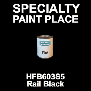 HFB603S5 Rail Black - Axalta - Pint Can