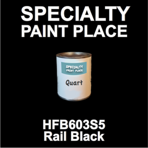 HFB603S5 Rail Black - Axalta - Quart Can