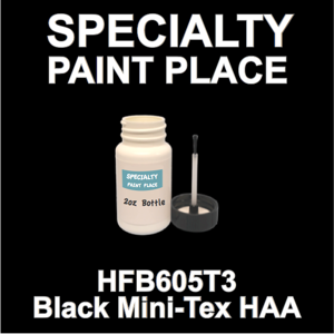 HFB605T3 Black Mini-Tex HAA - Axalta - 2oz Bottle with Brush