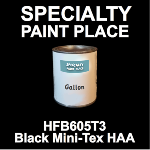 HFB605T3 Black Mini-Tex HAA - Axalta - Gallon Can
