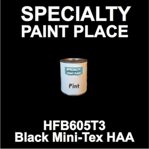 HFB605T3 Black Mini-Tex HAA - Axalta - Pint Can