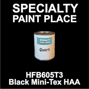 HFB605T3 Black Mini-Tex HAA - Axalta - Quart Can