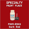 P009-RD02 Dark Red 2oz Bottle with Brush