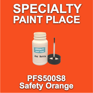 PFS500S8 Safety Orange - Axalta - 2oz Bottle with Brush