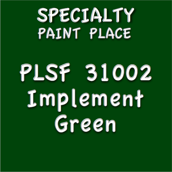 PLSF31002 implement green