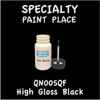 QN005QF High Gloss Black 2oz Bottle with Brush