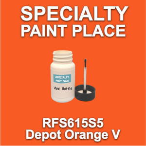 RFS615S5 Depot Orange V - Axalta - 2oz Bottle with Brush