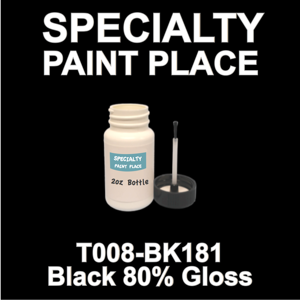 T008-BK181 Black 80 Gloss - Cardinal - 2oz Bottle with Brush