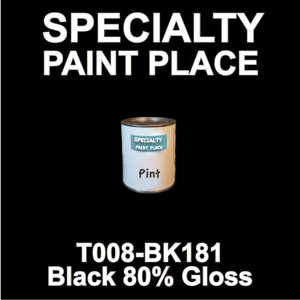 T008-BK181 Black 80 Gloss - Cardinal - Pint Can