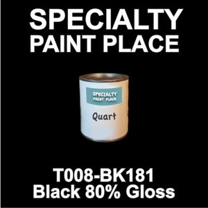 T008-BK181 Black 80 Gloss - Cardinal - Quart Can