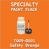 T009-OG01 Safety Orange 2oz Bottle with Brush