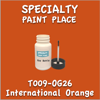 T009-OG26 International Orange 2oz Bottle with Brush