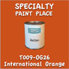 T009-OG26 International Orange Gallon Can
