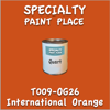 T009-OG26 International Orange Quart Can