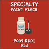 T009-RD01 Red 2oz Bottle with Brush