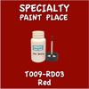T009-RD03 Red 2oz Bottle with Brush
