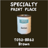T032-BR62 Brown Gallon Can