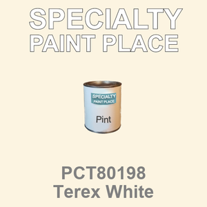 PCT80198 Terex White - PPG - Pint Can