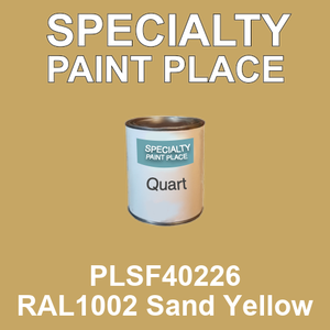 PLSF40226 RAL1002 Sand Yellow - IFS quart