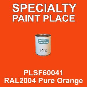 PLSF60041 RAL2004 Pure Orange - IFS pint