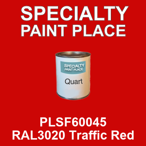 PLSF60045 RAL3020 Traffic Red - IFS quart