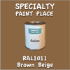 RAL 1011 Brown Beige Gallon Can