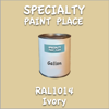 RAL 1014 Ivory Gallon Can