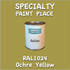 RAL 1024 Ochre Yellow Gallon Can