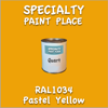 RAL 1034 Pastel Yellow Quart Can